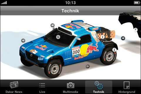 Rally Dakar no iPhone