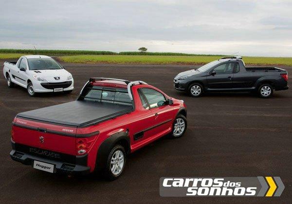 Modelos / Versões do Novo Peugeot Hoggar 2011 - Escapade, X-line e XR