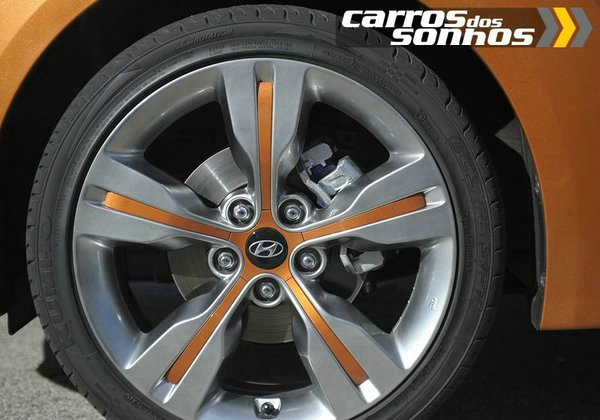 """Hyundai Veloster 2012 - Rodas de liga leve 17"""" e 18"""" polegadas"""