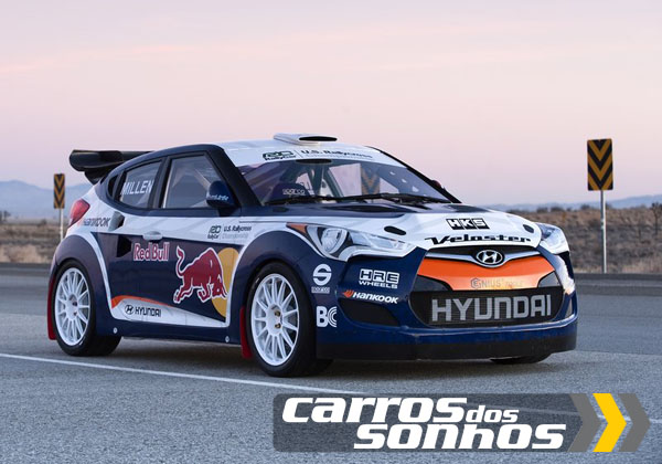 Hyundai Veloster Rally Car com 500cv