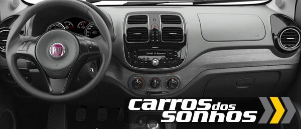 Novo Fiat Grand Siena 2012 Volante de Couro com Comandos de Rádio