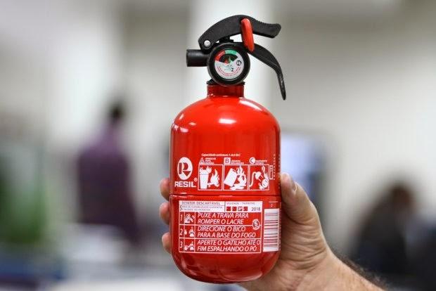 Extintores ABC podem voltar a ser obrigatórios
