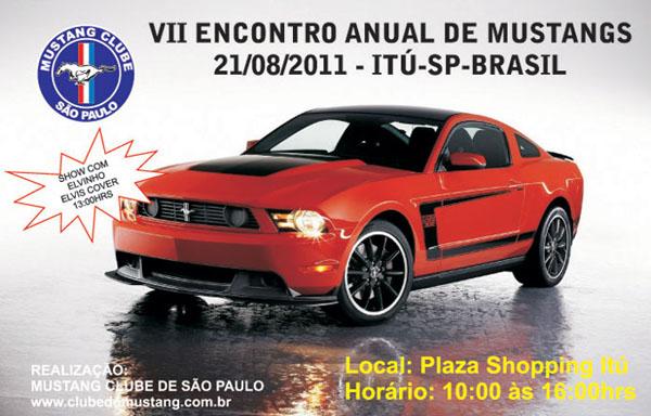 7º Encontro Nacional do Clube do Mustang de São Paulo em Itú SP