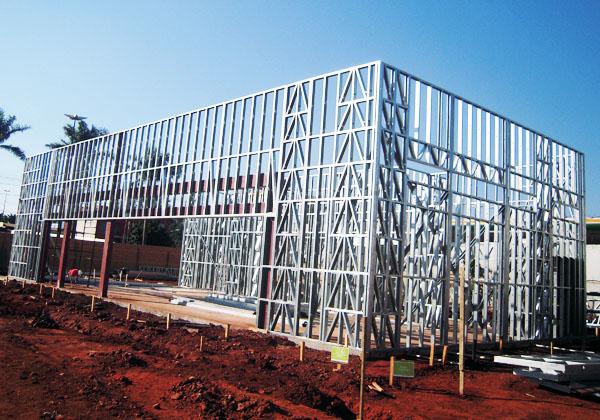 Posto Ecoeficiente Ipiranga - Estrutura Light Steel Framing